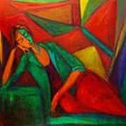 Cubism Contemplation  Art Print