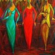 Cubism Dance II Art Print