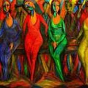 Cubism Dance  Art Print