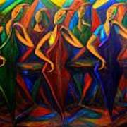 Cubism Music I Art Print