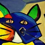 Cubist Inspired Cat  Art Print