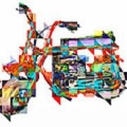 Cubist Mini Bike Print by Russell Pierce