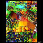 Fruit Collage Mini-print Art Print