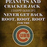 Cubs Peanuts And Cracker Jack  Art Print