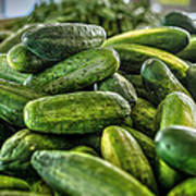 Cucumbers Art Print