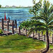 Cudjoe Dock Art Print