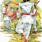Cultural Dance Of Afghanistan Attan Art Print