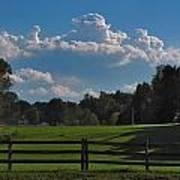Cumulus Over Green Pastures Art Print