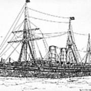 Cunard Liner Umbria 1880's Art Print
