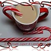 Cup Of Christmas Cheer - Candy Cane - Candy - Irish Cream Liquor Art Print by Barbara Griffin