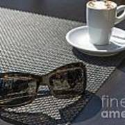 Cup Of Coffee And Sunglasses Art Print