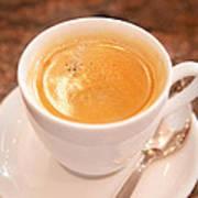 Espresso In White Art Print