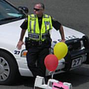 Cupcake And Balloon Checkpoint Art Print