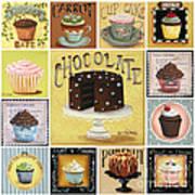 Cupcake Mosaic Art Print by Catherine Holman
