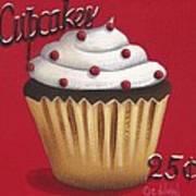 Cupcakes 25 Cents Art Print