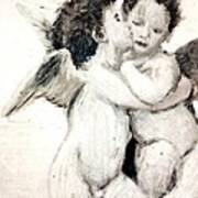 Cupid And Psyche By William Bouguereau Art Print