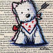 Cupid Westie Print by Kim Niles