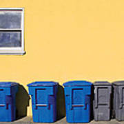 Curbside Trash Pick Up Art Print
