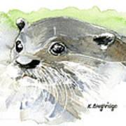 Curious Otter Art Print