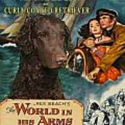 Curly Coated Retriever Art - The World In His Arms Movie Poster Art Print