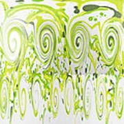 Curly Greens Art Print