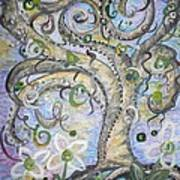 Curly Tree In Fantasy Land Art Print