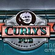 Curlys Pub - Lambeau Field Art Print