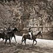 Current River Horses Art Print