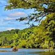 Current River Mo - Digital Paint Art Print