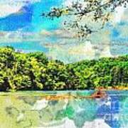 Current River Mo - Digital Paint II Art Print