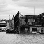 Currently Condemned Pier 64 On The Hudson River New York City Art Print