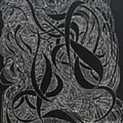 Cursive Curious 2 Art Print