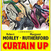 Curtain Up, Us Poster, Robert Morley Art Print