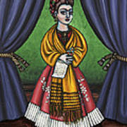 Curtains For Frida Art Print