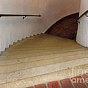 Curved Stairway At Brandywine River Museum Art Print