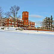 Cushing Academy In Winter Art Print