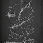 Cushion Insole For Shoes Patent Drawing From 1905 Art Print