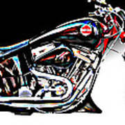 Custom Bike Study 1 Art Print