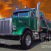 Custom Gravel Truck Catr0278-12 Art Print