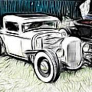Custom Hot Rod Pickup Art Print