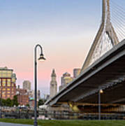 Custom House And Zakim Bridge Art Print