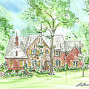 House Portrait Or Rendering Sample Art Print
