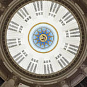 Custom House Tower Ceiling Boston Art Print