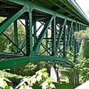 Cut River Bridge Near Epoufette Michigan Art Print
