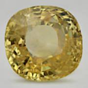 Cut Yellow Sapphire Gemstone Art Print