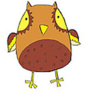 Cute Brown Owl Art Print