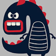 Cute Monster Vector Art Print