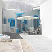 Cute Santorini Island Hause  Art Print