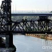 Cuyahoga River Cleveland Flats Art Print
