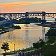 Cuyahoga River Cleveland Ohio Art Print